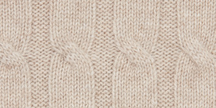 Sweater's cable knit