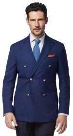 Spezzato, giacca blu e pantaloni grigio scuro