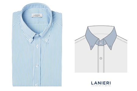 camicia con Colletto button down corto