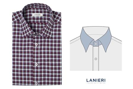 camicia con Colletto Semi Italiano