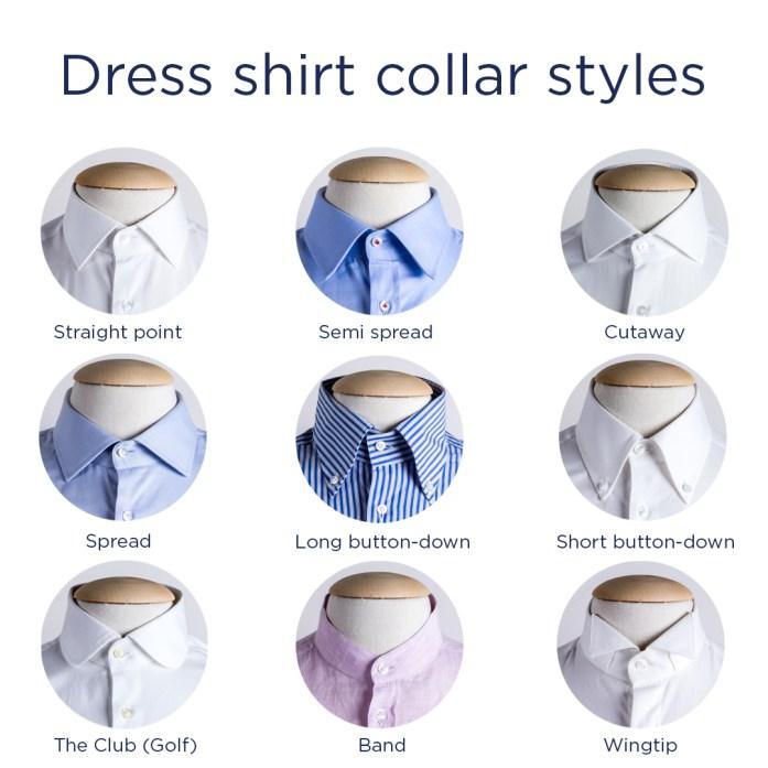 Most popular dress shirt collar styles