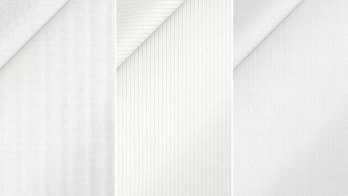 Tre tipolgie di tessuti per camicia da cerimonia bianca