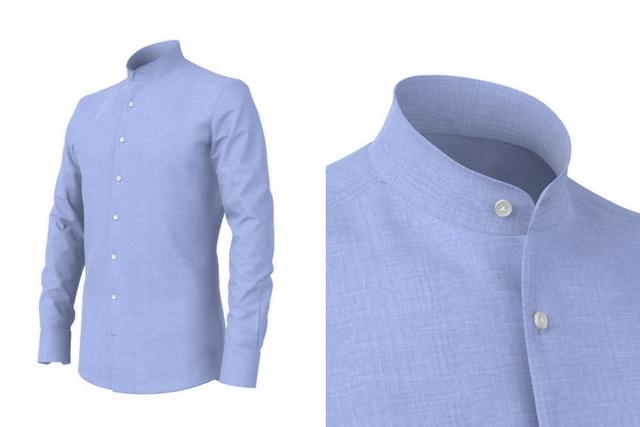Camicia Colletto Coreano