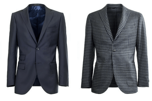 half-canvassed jacket vs unstructured blazer