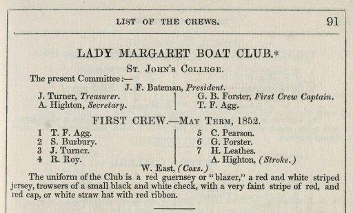 """Prima attestazione dell'utilizzo del termine """"blazer"""" in riferimento ai """"blazing red"""" blazer del Lady Margaret Boat Club, Cambridge"""