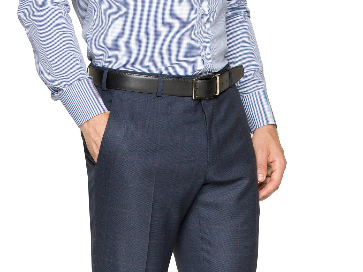 New Era Factory Outlet Mens Slim Fit Navy Blue 2 Button Dress Suit with Flat Front Pants 46 Regular