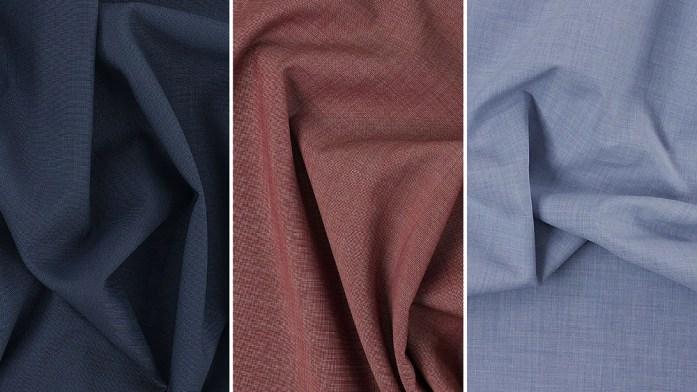 Veste Bleu Outremer | Pantalon Pur Lin Bordeaux | Chemise Bleu Zéphyr Coton