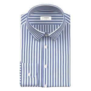 Stripe Blue Zephyr Shirt Fabric produced by Ibieffe