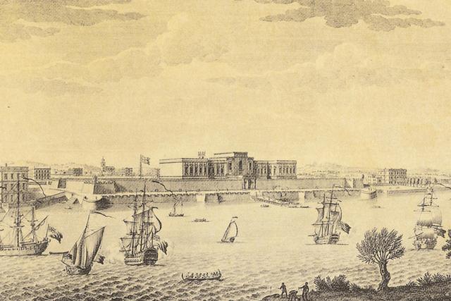 Compagnia delle Indie. Stampa di Jan van Ryne, 1754. (Londra, British Library)
