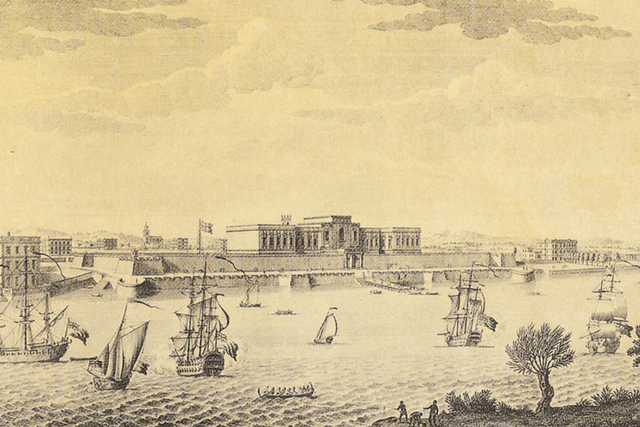 East India Company - Jan van Ryn Print, 1754. (London, British Library)