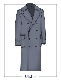 manteau noir mi cheville homme