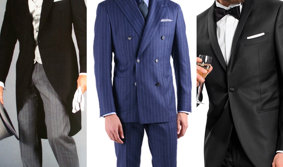 aef70bf6ec7 The difference between suits, tuxedos, morning suits and tailcoats ...