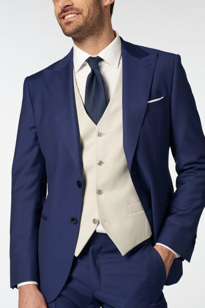 cravatta blu cerimonia lanieri
