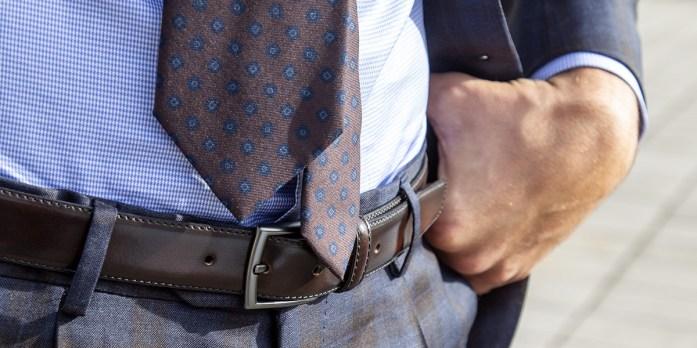 dettaglio cravatta seta lanieri