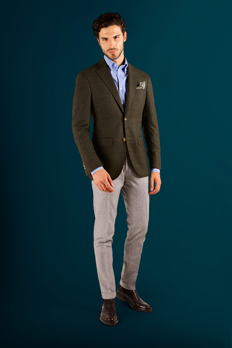 5cbadb01087 Business casual – flannel dress shirt with trousers. If you work in the  office where the suit is not compulsory every day