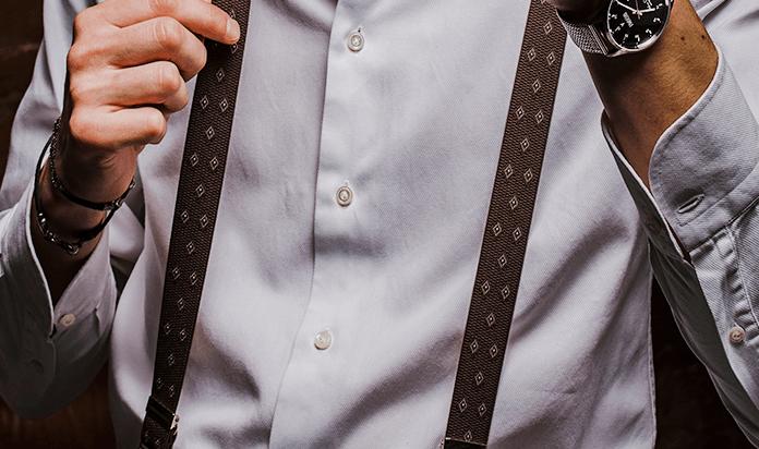 tessuti pregiati famoso marchio di stilisti codice promozionale Le bretelle da uomo: come si indossano, con cosa si abbinano ...
