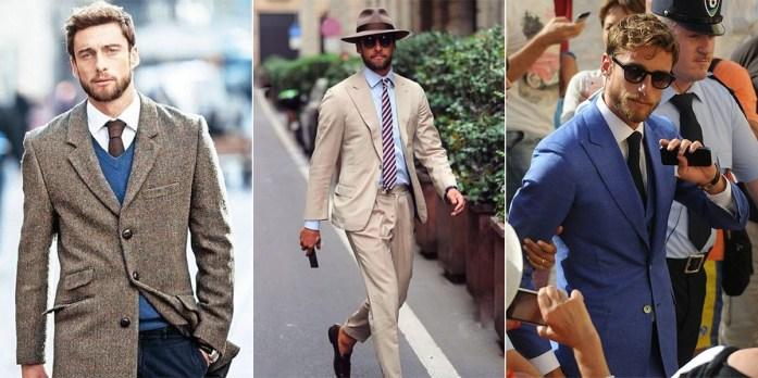 Claudio Marchisio in tre diversi outfit