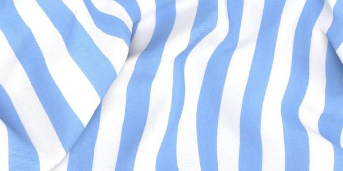 Tessuto a righe blu e bianche per camicia