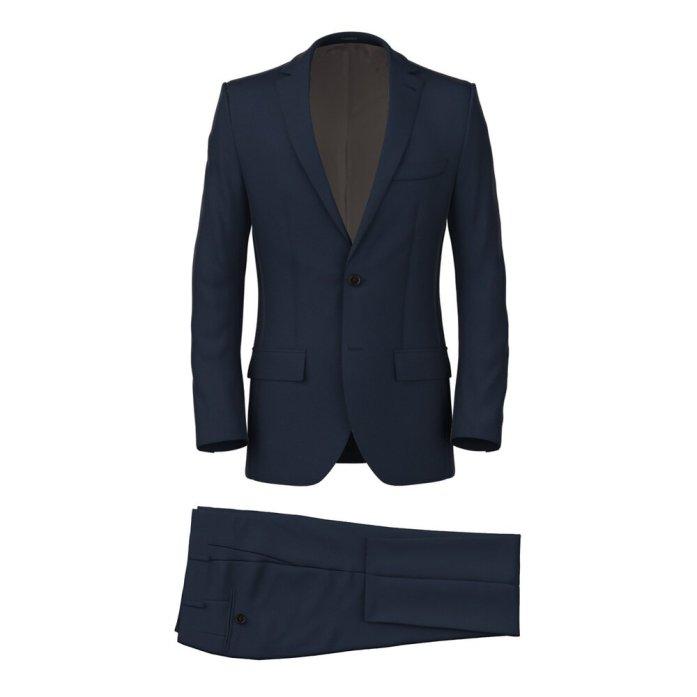 Blue Twill 150's Suit