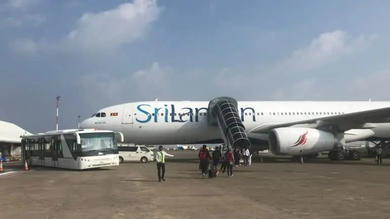 SriLankan Airlines will be among about 10 international carries looking to resume flights to the country's international gateway at Velana International Airport on July 15. (Photo by Yuji Kuronuma)
