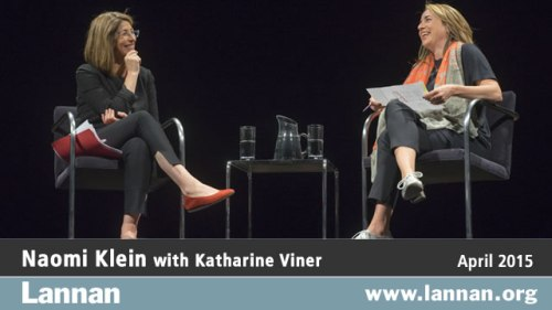 Naomi Klein with Katharine Viner