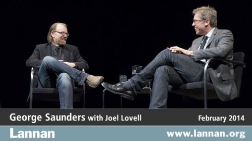 George Saunders with Joel Lovell