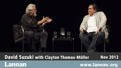 David Suzuki with Clayton Thomas-Muller