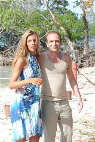 Guenda Goria e il fidanzato all'Isola dei Famosi
