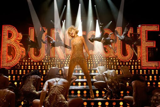 cristina aguilera nel film Burlesque