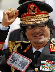 Gheddafi in divisa foto