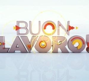 """Foto del logo programma """"Buon Lavoro"""" condotto da Nicolò Bongiorno"""