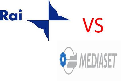 Rai contro Mediaset Logo