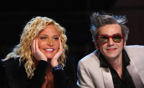 Foto di Simona Ventura e Morgan giudici X Factor