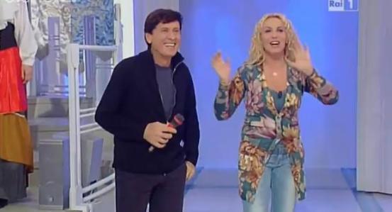 Gianni Morandi e Antonella Clerici Sanremo 2012 Foto