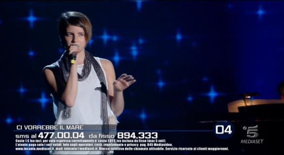 Foto Arianna Cleri mentre canta a Io Canto 3