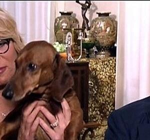 Maurizio Costanzo e Maria De Filippi con il loro cane foto