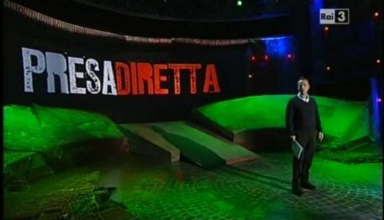 Un momento di Presadiretta con Riccardo Iacona