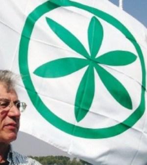 Il leader della Lega Nord Umberto Bossi