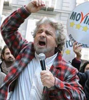 Beppe Grillo protagonista della politica