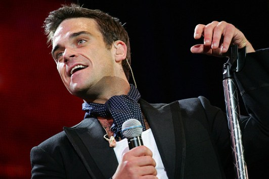 foto del cantante robbie williams