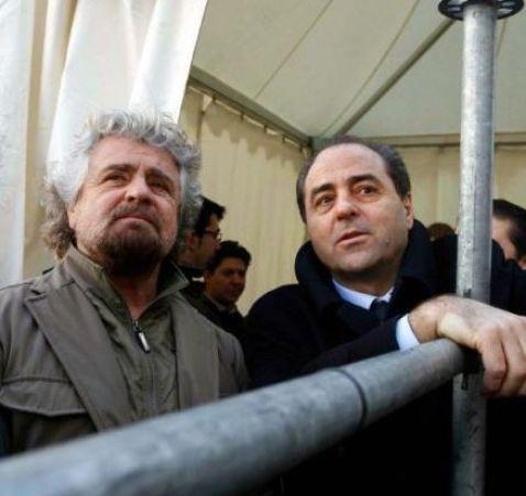 Beppe Grillo e Antonio di Pietro a Robinson