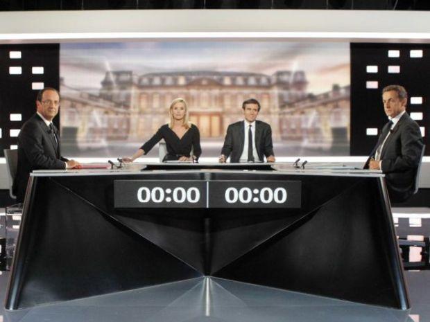 Il duello tv tra hollande e sarkozy che scaricano Berlusconi