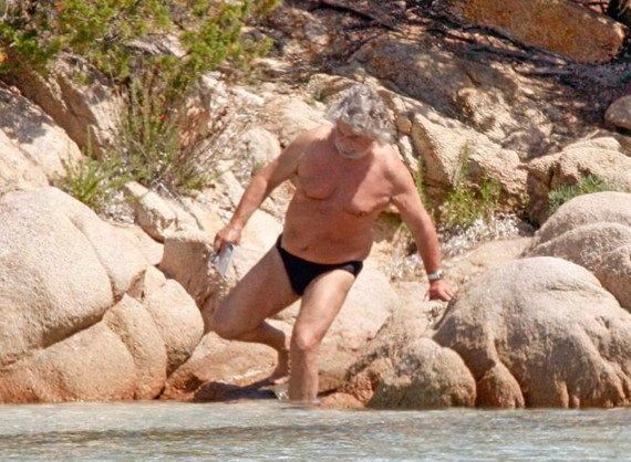 Beppe Grillo a Porto Cervo