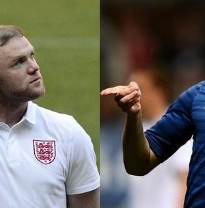 Foto di Rooney e Benzema, Inghilterra e Francia Euro 2012
