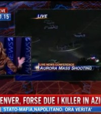 Il tg che ha ripreso la notizia della strage di Denver