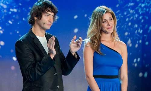 Foto di Belen Rodriguez e Simone Annichiarico ad Italia's got talent