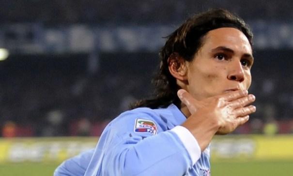 Foto di Cavani giocatore del Napoli