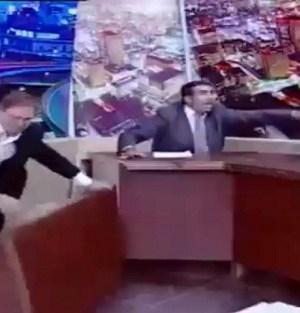 Una scena dell'acceso dibattito tv in Giordania