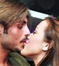 Foto di Francesco Monte e Teresanna Pugliese bacio
