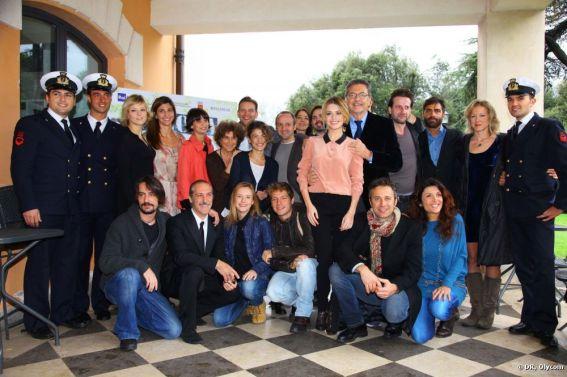 Cast ufficiale de L'Isola alla presentazione della fiction